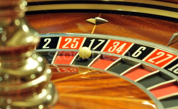 Rueda de la ruleta imagen casino pelota número 17 Foto stock © tony4urban