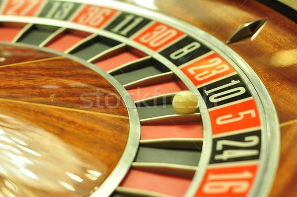 Rulettkerék kép kaszinó labda szám 10 Stock fotó © tony4urban