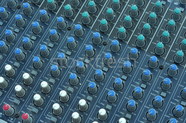 Audio mixer musica desk pulsanti top Foto d'archivio © tony4urban