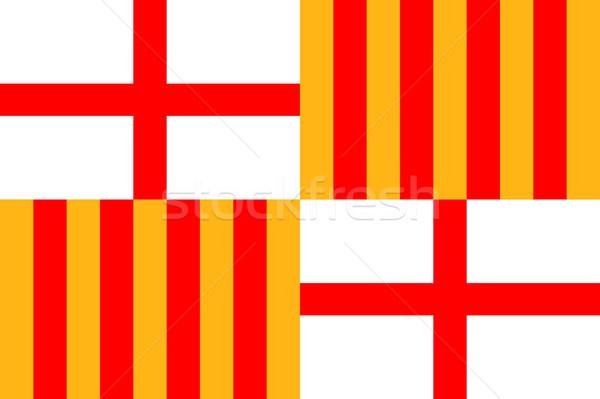 Barcelona flag Stock photo © tony4urban