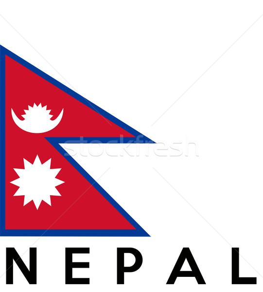 флаг Непал большой размер иллюстрация стране Сток-фото © tony4urban