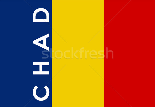 flag of chad Stock photo © tony4urban