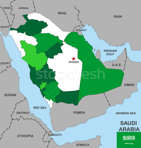 サウジアラビア 地図 ビッグ サイズ 政治的 フラグ ストックフォト © tony4urban
