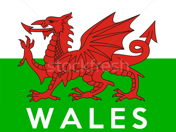 País de gales bandeira grande tamanho país ilustração Foto stock © tony4urban