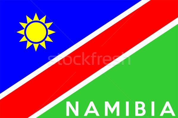 フラグ ナミビア ビッグ サイズ 実例 国 ストックフォト © tony4urban