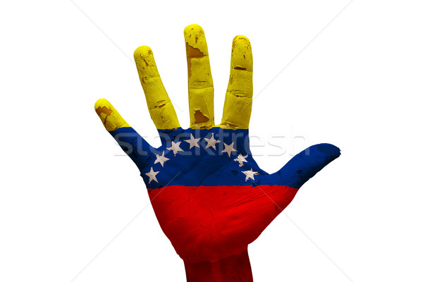 手のひら フラグ ベネズエラ 男 手 こぶし ストックフォト © tony4urban