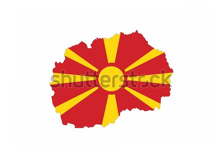 Macédoine pavillon carte pays forme Photo stock © tony4urban
