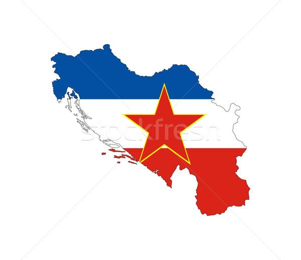 yugoslavia flag map Stock photo © tony4urban