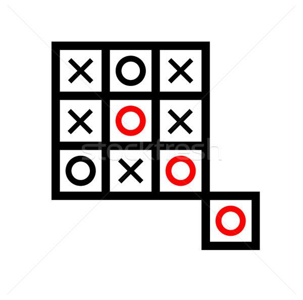 extra box tic tac toe Stock photo © tony4urban