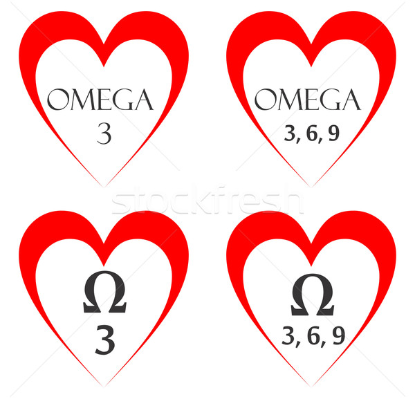 Stock photo: omega heart