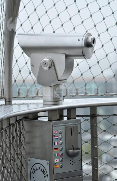 Telescoop toeristen praten Londen stad Verenigd Koninkrijk Stockfoto © tony4urban
