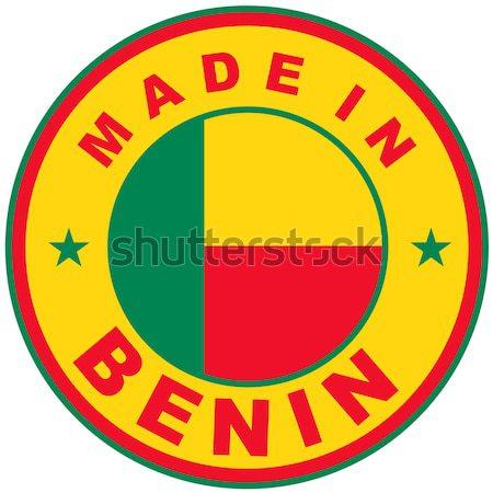 Benin grande dimensioni paese etichetta Foto d'archivio © tony4urban