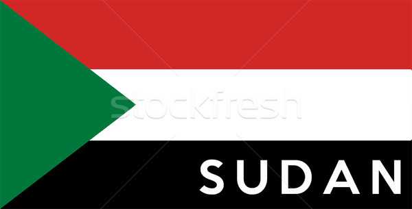 flag of Sudan Stock photo © tony4urban