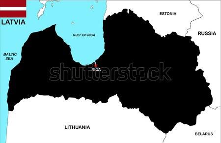 rwanda map Stock photo © tony4urban