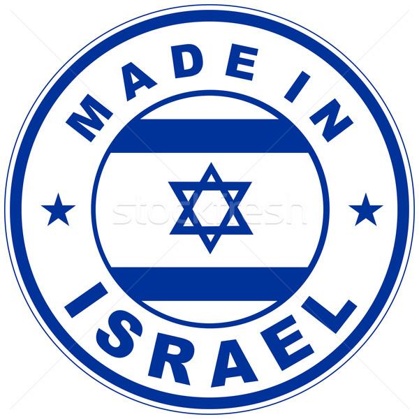 İsrail büyük boyut ülke etiket imzalamak Stok fotoğraf © tony4urban