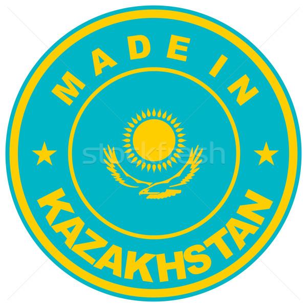 Kazahsztán nagy méret vidék címke felirat Stock fotó © tony4urban