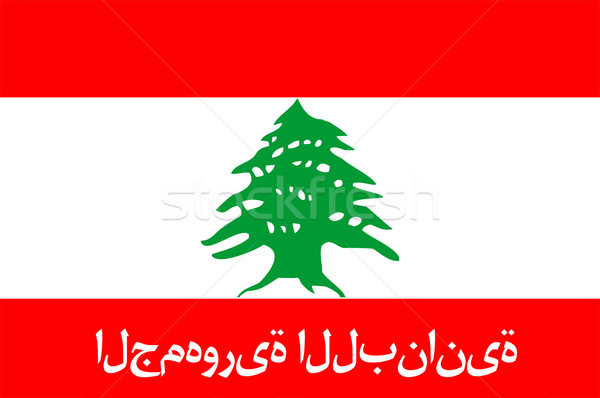 Vlag Libanon groot maat illustratie land Stockfoto © tony4urban