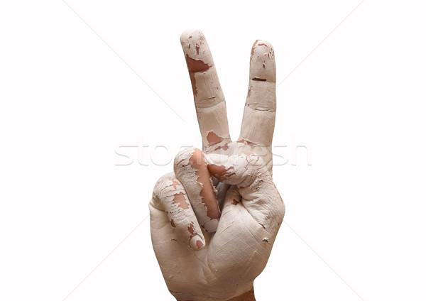 Hand making the V sign Stock photo © tony4urban