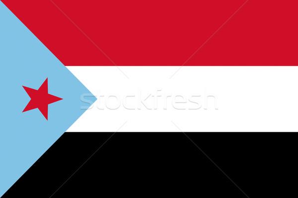 Demokratikus köztársaság Jemen vidék zászló Stock fotó © tony4urban