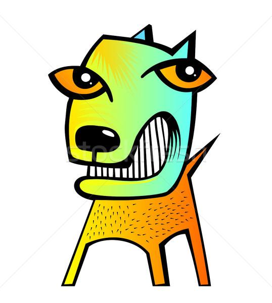 Foto stock: Abstrato · cão · grande · tamanho · engraçado · ilustração
