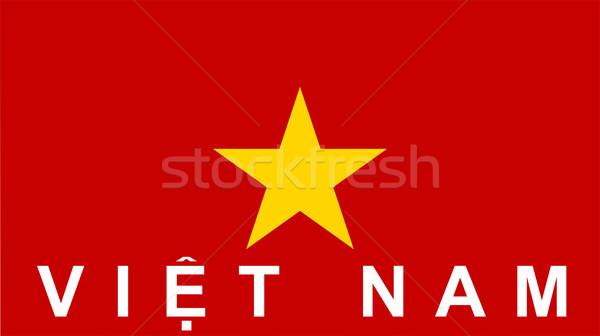 flag of Vietnam Stock photo © tony4urban