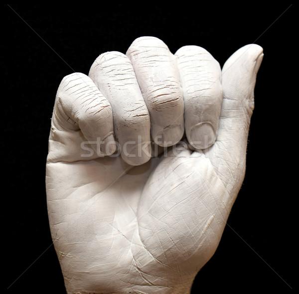 Carta linguagem gestual americano alfabeto mãos pintado Foto stock © tony4urban
