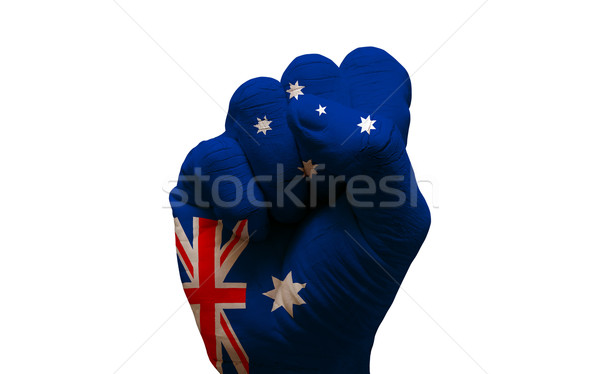 fist flag Stock photo © tony4urban