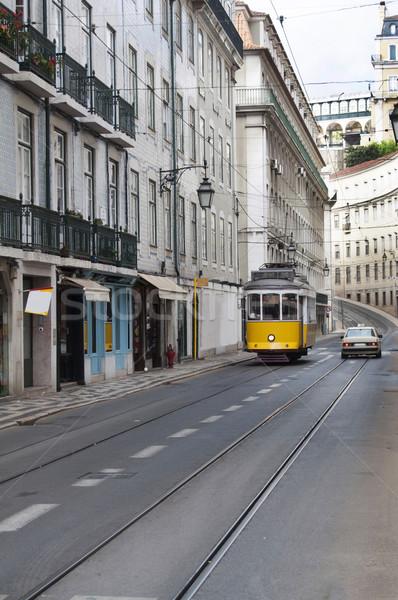 Foto stock: Lisboa · bonde · cidade · Portugal · vista · para · a · rua