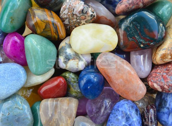 Gemme pierres modèle texture géologie Photo stock © tony4urban