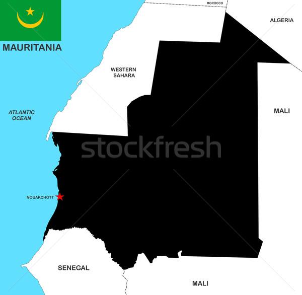 mauritania map Stock photo © tony4urban