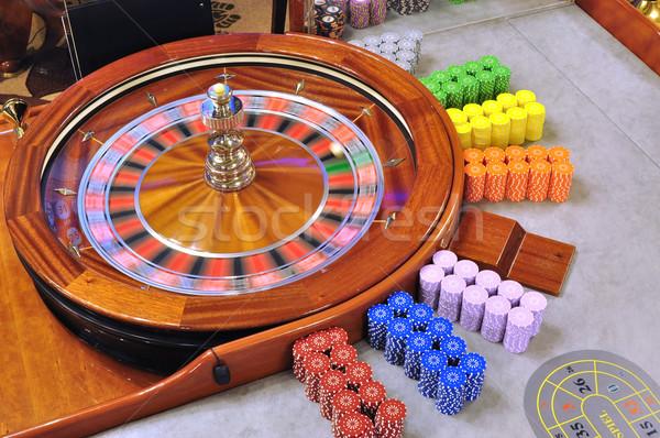 Rulettkerék kép kaszinó labda játék Stock fotó © tony4urban
