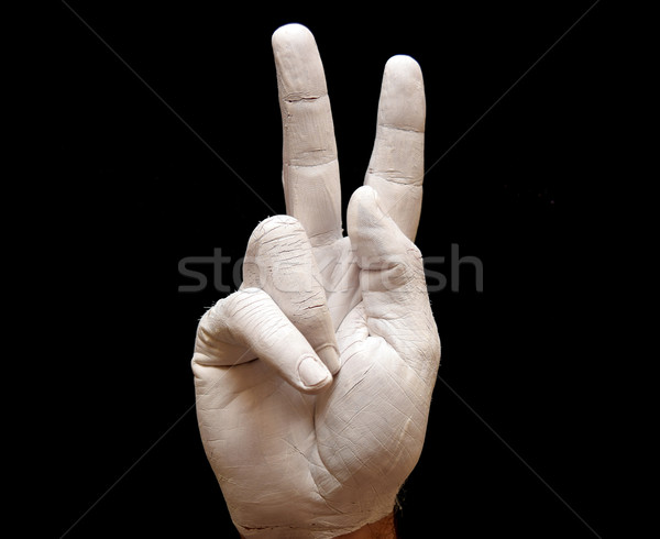 Levél jelbeszéd amerikai ábécé kezek festett Stock fotó © tony4urban
