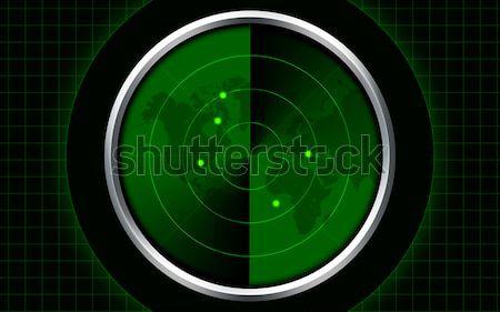 Vintage radar computador gerado verde velho Foto stock © tony4urban