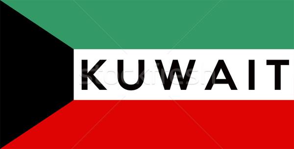 Bandeira Kuweit grande tamanho ilustração país Foto stock © tony4urban
