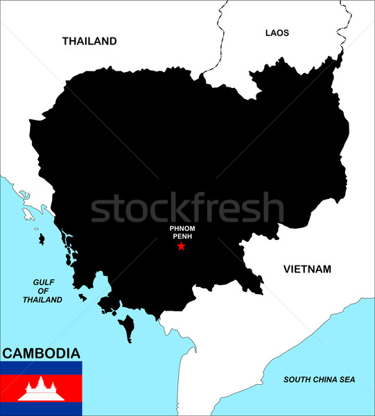 cambodia map Stock photo © tony4urban