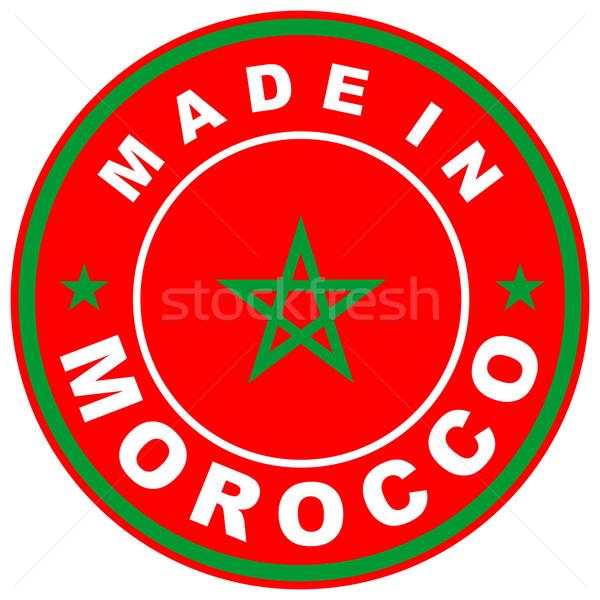 Marokkó nagy méret vidék címke felirat Stock fotó © tony4urban
