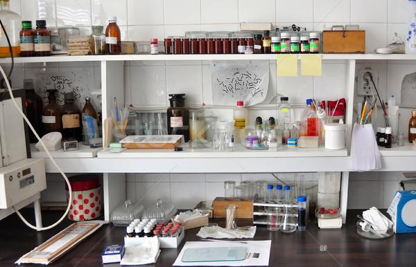 Velho laboratório escolas química geral ver Foto stock © tony4urban