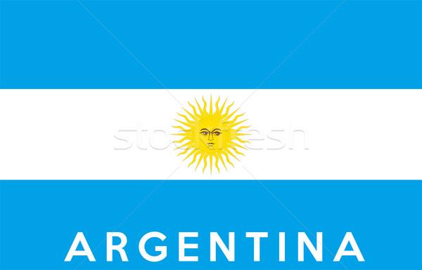 Pavillon Argentine grand taille illustration pays Photo stock © tony4urban
