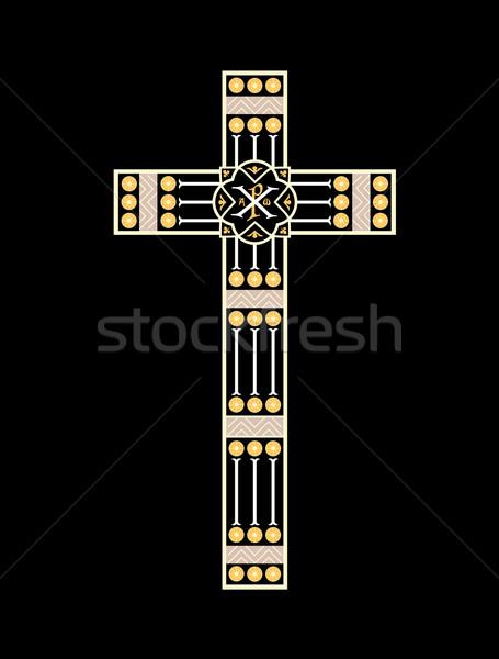 Ungherese cross Budapest Ungheria museo chiesa Foto d'archivio © tony4urban