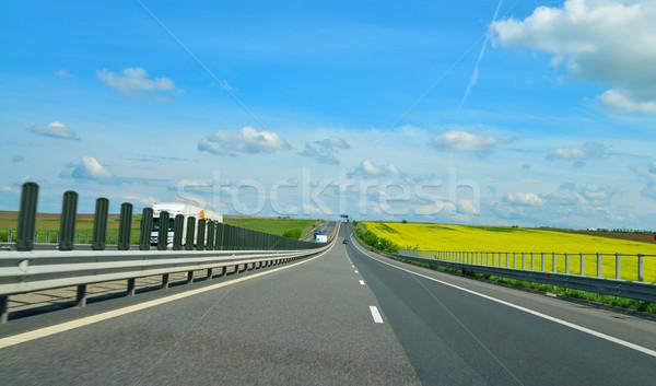 шоссе город облака дороги Сток-фото © tony4urban
