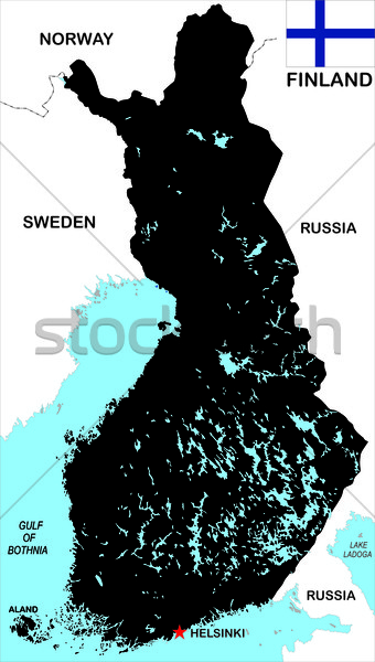 Finlandia mapa grande tamaño político ilustración Foto stock © tony4urban