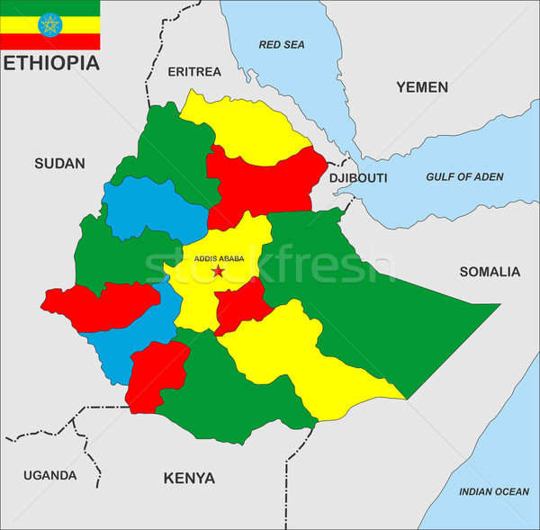 ethiopia map stock photo © antonel adrian tudor (tony4urban ...