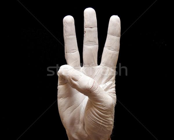 List w język migowy amerykański alfabet ręce malowany Zdjęcia stock © tony4urban
