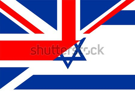 EUA Israel Estados Unidos América mitad país Foto stock © tony4urban
