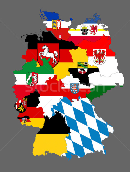 Stock photo: germany regions flag map