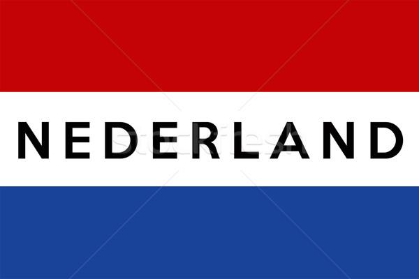 Bandera Holanda grande tamaño ilustración país Foto stock © tony4urban