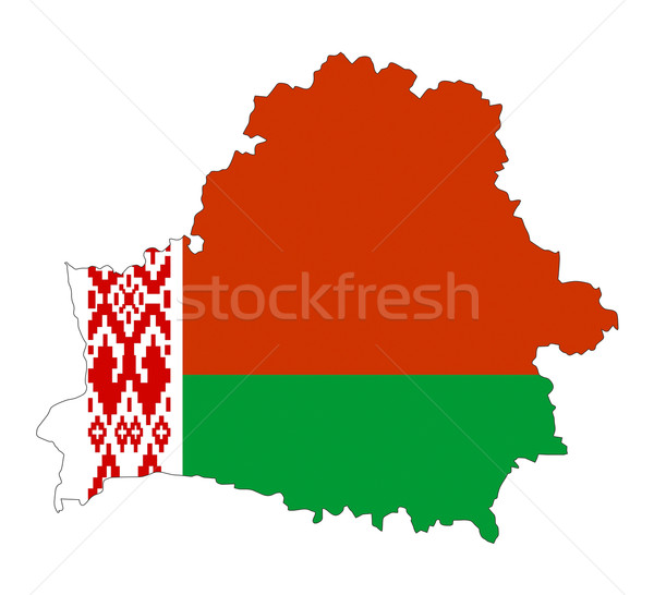 belarus flag map Stock photo © tony4urban