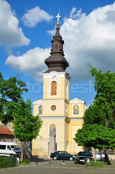 traian square church Stock photo © tony4urban
