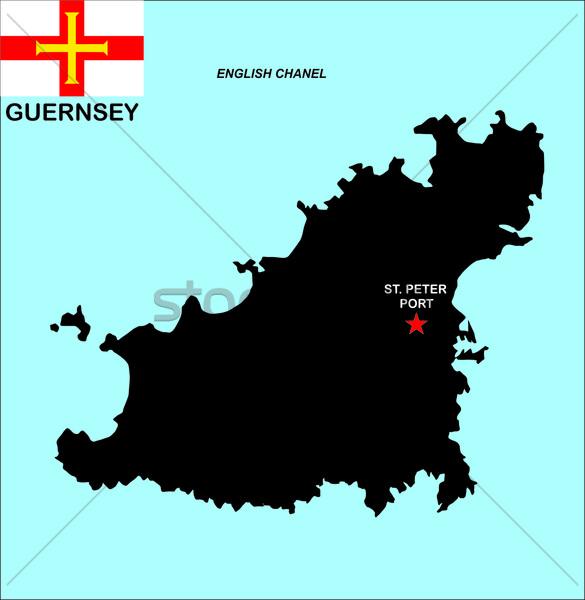guernsey map Stock photo © tony4urban