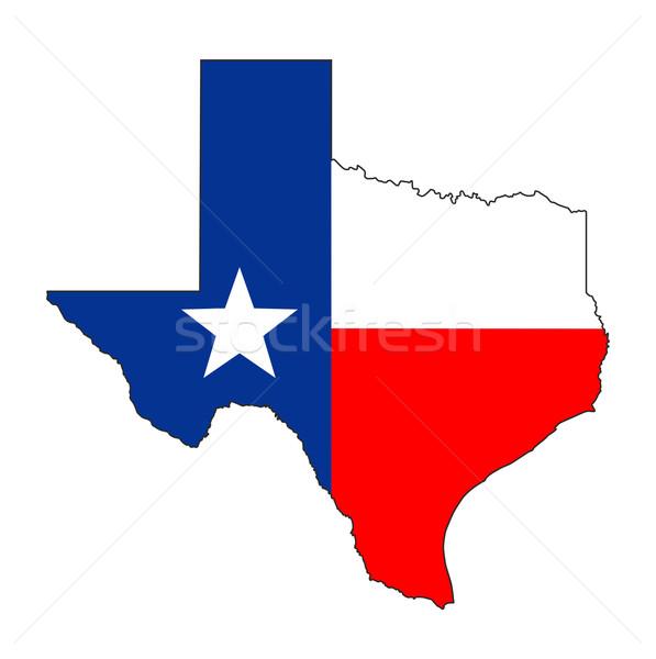 テキサス州 フラグ 地図 米国 実例 ストックフォト © tony4urban